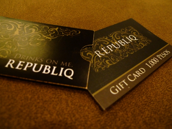 Gift Certificate from Republiq