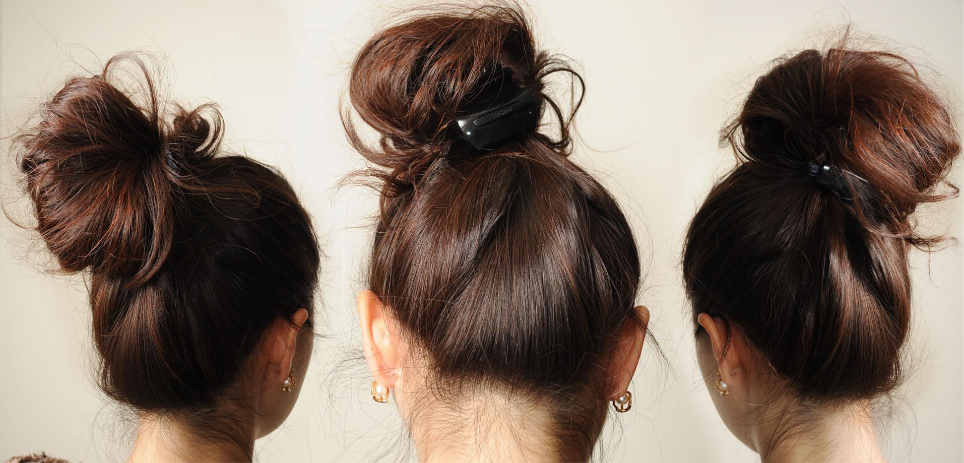 Hair Bun Tutorial Thirstythought - Hairstyle bun tutorials